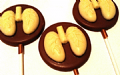 Chocolate Lungs Lolly 40g